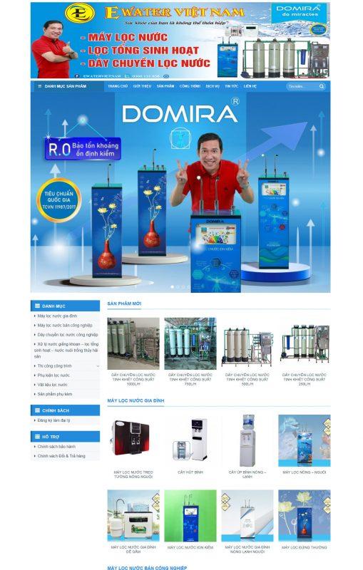 Thiết kế website máy lọc nước Nam Định