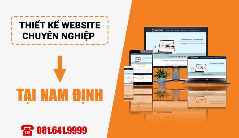 Dịch vụ thiết kế website chuyên nghiệp tại Nam Định