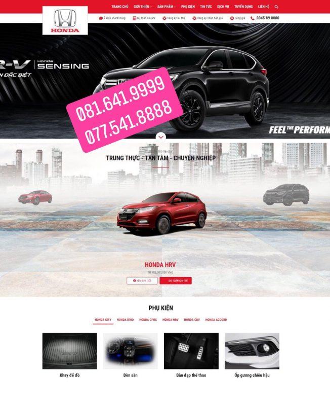 Thiết kế website bán ô tô tại Nam Định