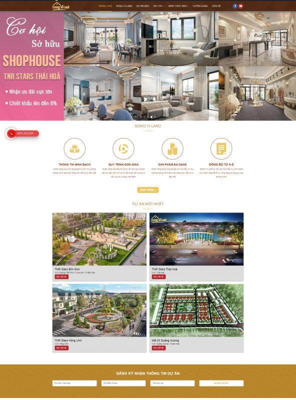 Thiết kế website bất động sản tại Nam Định