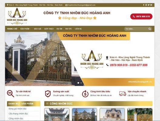 Thiết kế website nhôm đúc tại Nam Định